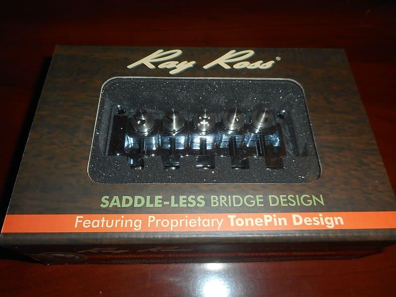 Ray Ross Saddle-Less 4-String Bass Bridge Chrome
