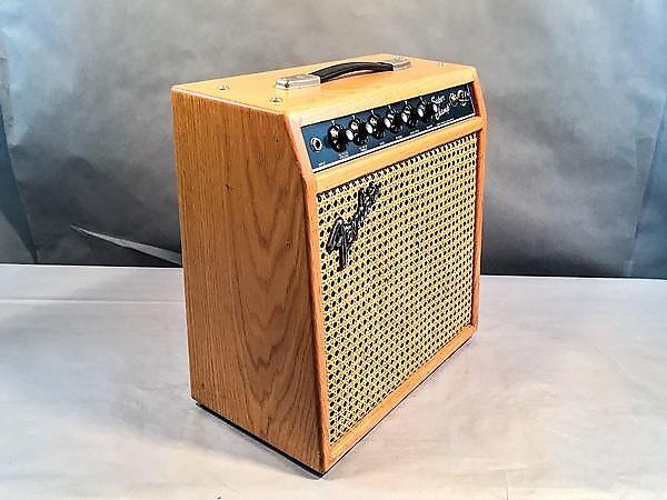 Fender Super Champ Guitar Amplifier W Custom Oak Cabinet