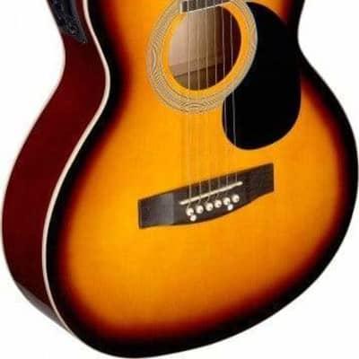 Stagg SA20ACE Auditorium Cutaway Acoustic-Electric Guitar - Sunburst for sale
