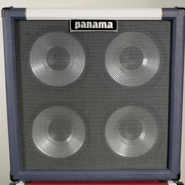 Panama Guitars Professional Series Sealed Bass 4x10 Cab Navy/White w/Aluminum Drivers 8 Ohm image
