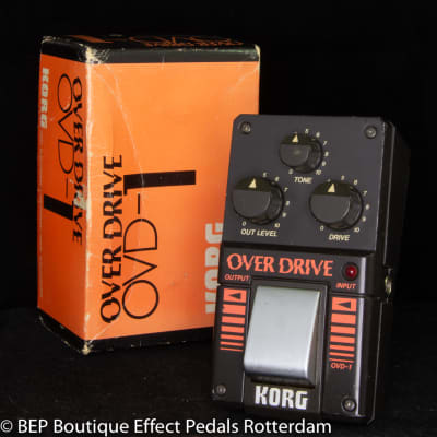 Korg OVD-1 Overdrive 1984 s/n 002214 Japan with rare JRC4558DV op amp