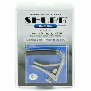 Shubb S1 Deluxe Steel 6 String Capo for sale
