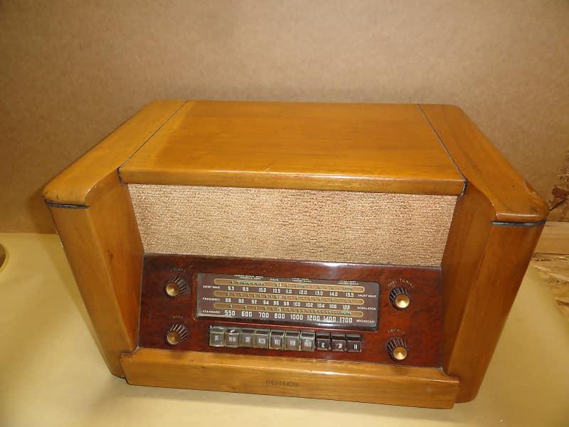 1948 Philco 48 482 AM FM SW Tube Short Wave Radio Berlin NH