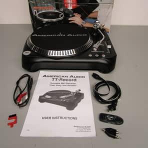 American Audio TT-RECORD Belt-Drive Turntable w/ MP3 Recorder