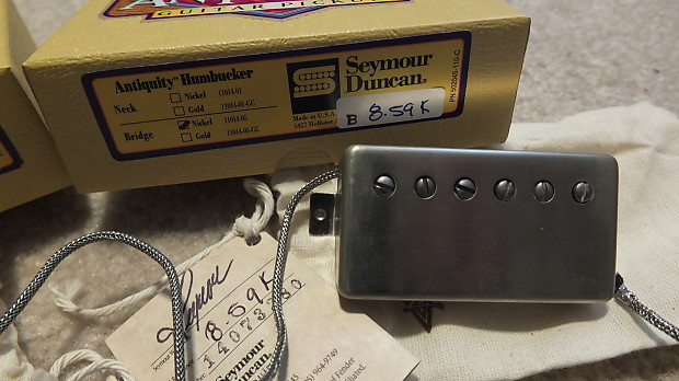 seymour duncan antiquity humbucker pickup set aged nickel reverb. Black Bedroom Furniture Sets. Home Design Ideas