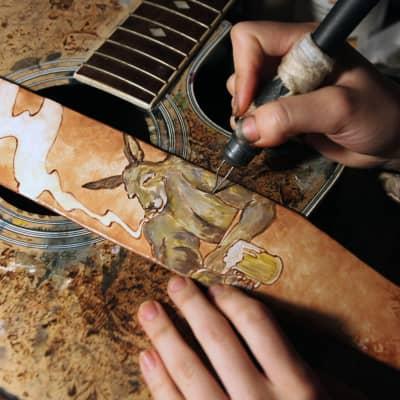 burnyblack Bass guitar strap - Kangaroo brown