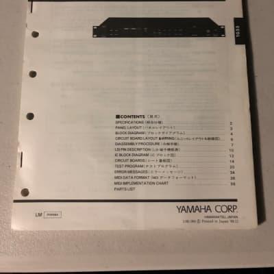 Yamaha  TG55 Tone Generator Service Manual 1989