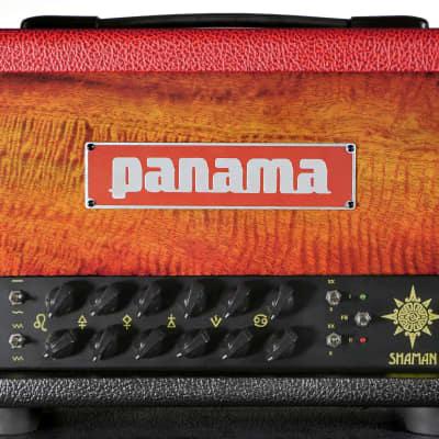 Panama Guitars Shaman Extra 20W All Tube Amp Head Figured Mango Sunburst Limited Edition