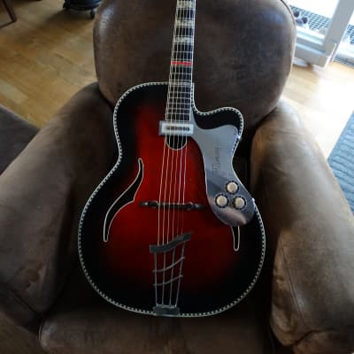Guitare Jazz archtop klira red king Deluxe vintage années 50 for sale