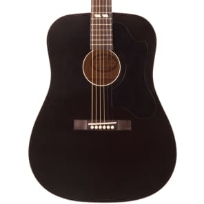 Recording King RDS-7-MBK Dirty 30's Series 7 Dreadnought Acoustic Guitar Matte Black