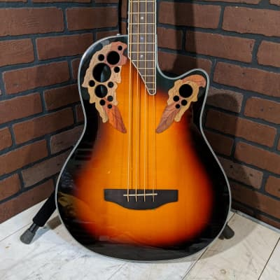 Ovation CEB44-1N Acoustic Electric Bass - New England Burst for sale