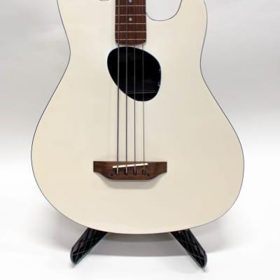 Kramer Ferrington Acoustic Fretless Electric Bass Guitar with Gigbag - White for sale