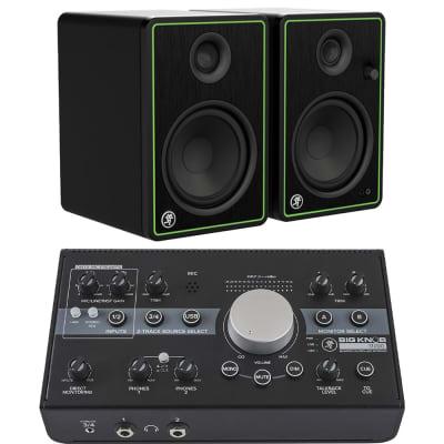 Mackie Bundle with CR5-X Studio Monitor - Pair + Big Knob Studio Monitor Controller and Interface