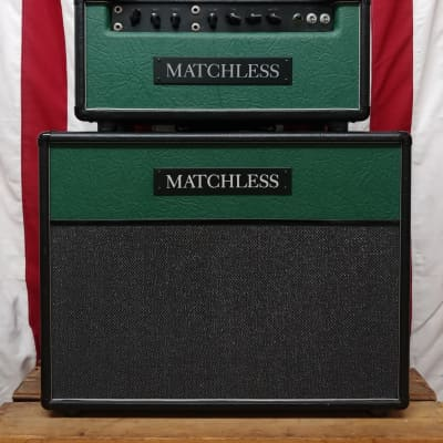 2006 Matchless H/C-30 Green/Black Tolex with Matching ESD 2x12 Cabinet
