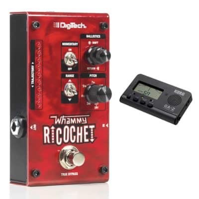 Digitech Whammy Ricochet Pedal w/ Korg GA-2 Compact Guitar/Bass Tuner Bundle