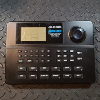Alesis SR-16 Drum Machine and adapter with Free Non Functioning Yamaha Clickstation