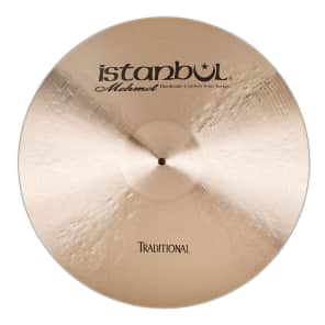 """Istanbul Mehmet 22"""" Traditional Series Ping Ride Cymbal"""