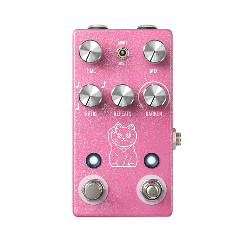 JHS Lucky Cat Delay Effects Pedal Pink