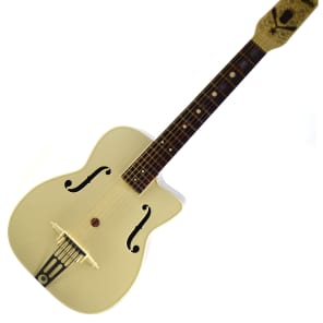 Vintage 1950s Maccaferri G30 Decorated Archtop Plastic Guitar w Original Box + Goodies for sale