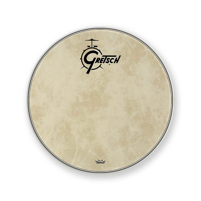 Gretsch Bass Drum Head Fiberskyn 20 With Broadkaster Logo GRDHFS20B