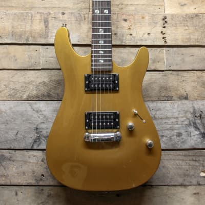 Canvas CMF Gold HH Electric Guitar, Mother of Pearl / Abalone inlays - local pickup Chicago area for sale