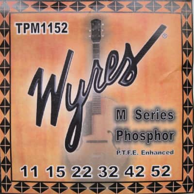 Wyres MCP Coated Acoustic Guitar Strings 11-52 (Formally TPM) for sale