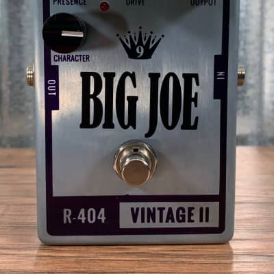 Big Joe Stomp Box Analog Vintage II R-404 Raw Series Overdrive Guitar Effects Pedal