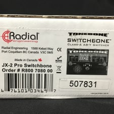 New Radial Engineering Tonebone JX-2 Pro Switchbone ABY Amp Switcher w/Free*