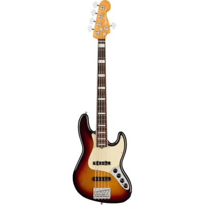 Fender American Ultra Jazz Bass V Ultra Burst RW with Case for sale