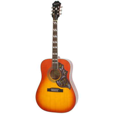 Epiphone Hummingbird Pro Acoustic/Electric Guitar, Rosewood Neck, Faded Cherry Burst for sale