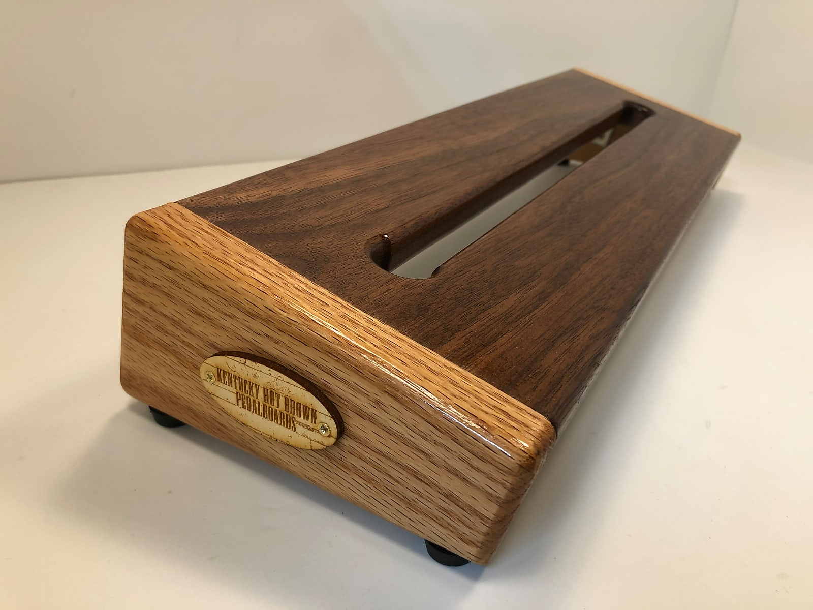 Hot Box Standard Pedalboard - Solid Walnut & Red Oak by KYHBPB - Available Now!