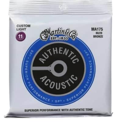 Martin Authentic Superior Performance Acoustic 80/20 Phosphor Bronze Custom Lt