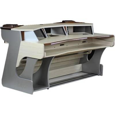 Zaor Miza X2 Studio Desk - Titanium Wenge