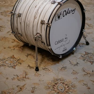 Odery Cafe Kit 16x20 White Ash Bass Drum