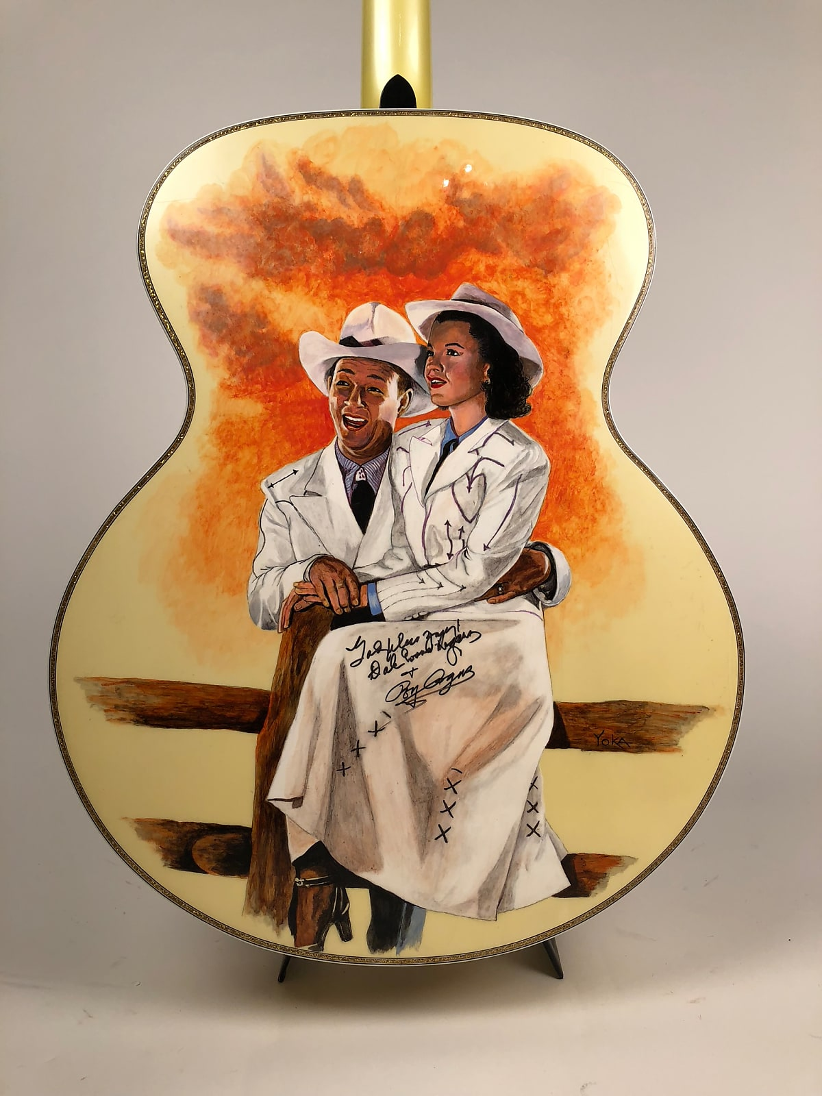 "Rich & Taylor Roy Rogers ""King of the Cowboys"" Tribute Prototype Guitar Signed by Roy & Dale"