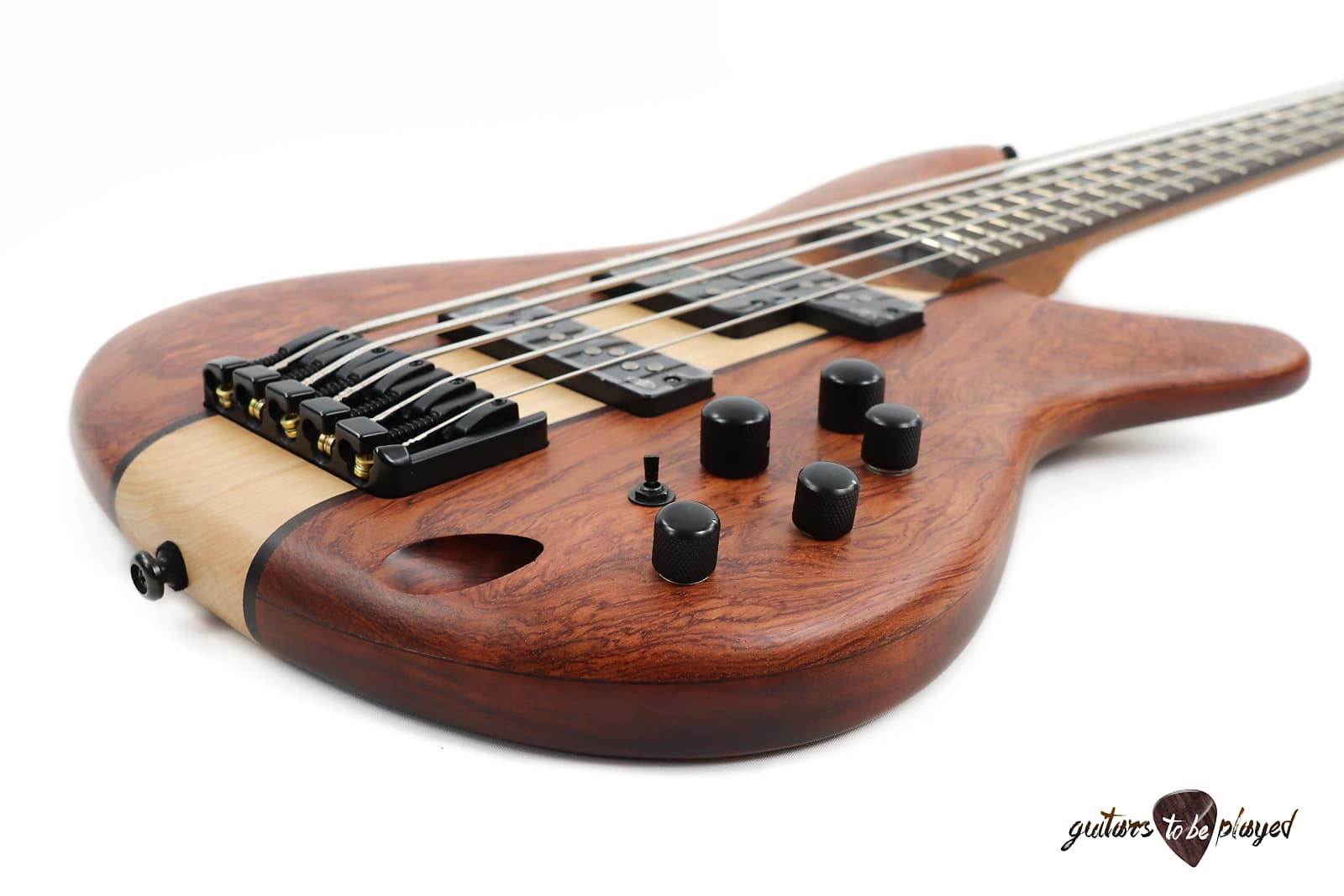 Ibanez Sr755 Ntf 5 String Electric Bass Natural Flat