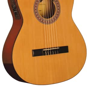 Indiana IC-25CE Classical Cutaway Acoustic-Electric Guitar Natural