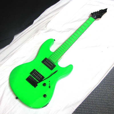 DEAN Custom Zone electric guitar BLEM - Florescent Nuclear Green - LOCAL Pickup for sale