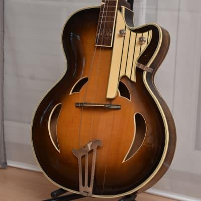 Herbert Todt Split Sound Hole Archtop – 1950s German Vintage GDR Archtop Jazz Guitar Gitarre PROJECT for sale