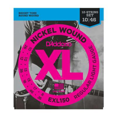 DAddario EXL150 Nickel Wound 12-String Regular Light 10-46