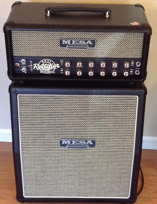 mesa boogie rectoverb 25 head and matching cabinet handmade reverb. Black Bedroom Furniture Sets. Home Design Ideas