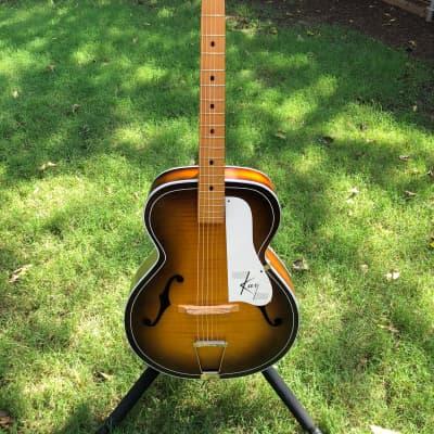 Kay Vintage Kay Acoustic Guitar 1950's Blonde Honey Burst for sale
