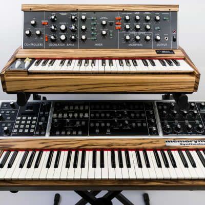 Moog Memorymoog Plus + Minimoog Custom Zebra Wood Pair - Fully Restored //RRS//