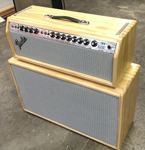 Fender Twin Reverb Late 1970's Blonde Pine Head and | Reverb