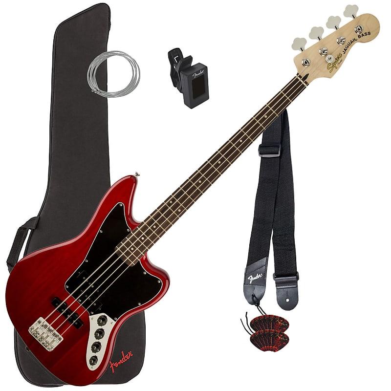 squier vm jaguar bass special crimson red bass essentials reverb. Black Bedroom Furniture Sets. Home Design Ideas