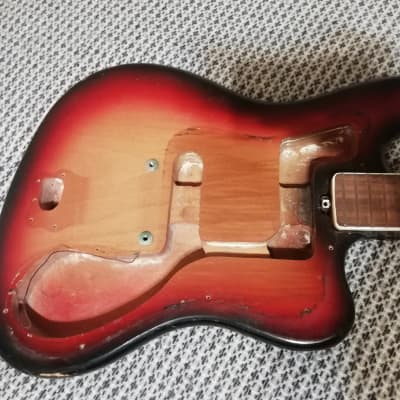 Musima de Luxe 25v 1970s 3 Color Sunburst Jazzmaster / Jaguar variation for sale