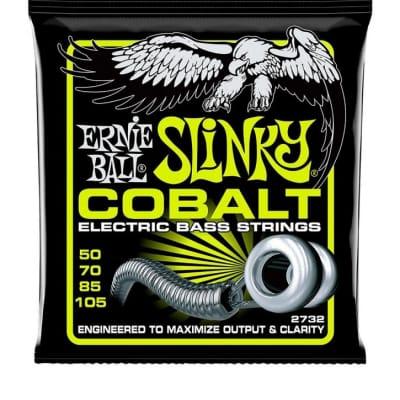 Ernie Ball 2732 Super Slinky Cobalt Bass Strings, 50-105