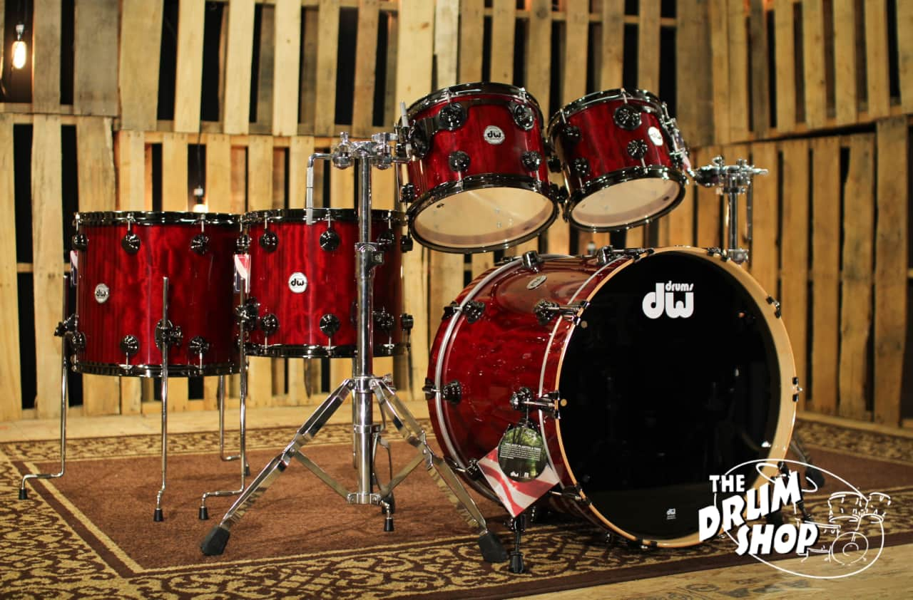 Dw Drums Collector S Maple Light Candy Apple Red Exotic