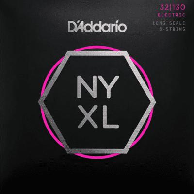 D'Addario NYXL32130 6-String Nickel Wound Regular Light Bass Strings 32-130