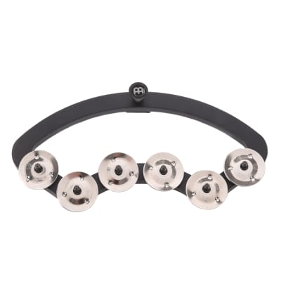 """Meinl Backbeat Tambourine For 13-14"""" Drums, Stainless Steel Jingles"""
